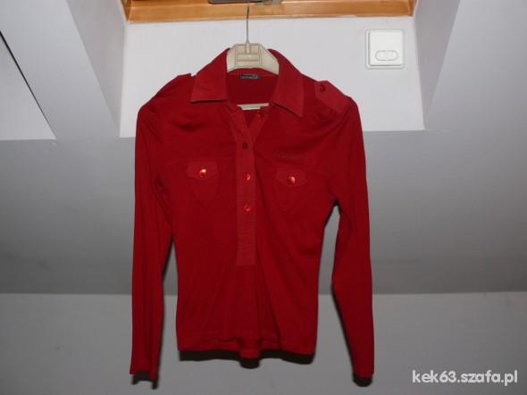 Śliczna bluzka z kołnierzykiem i kieszonkami S