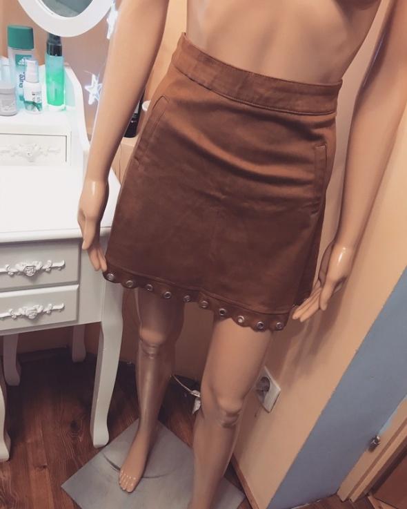 Nowa spódniczka zamszowa S...