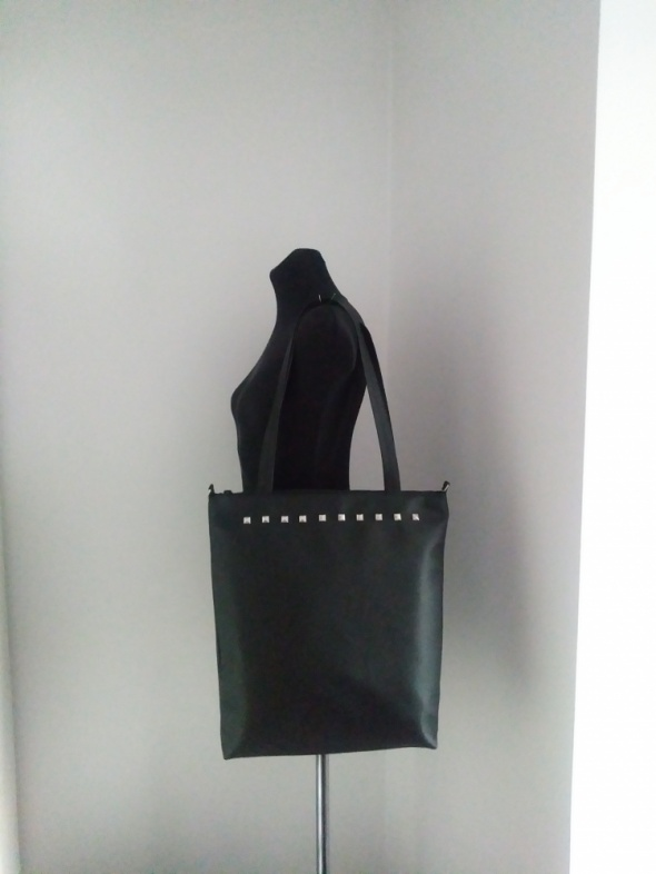Duża torebka torba eko skóra ćwieki A4