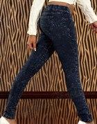 Jeansowe tregginsy z przeszyciami