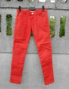 spodnie Rurki 134 na 9 lat koralowe ceglaste