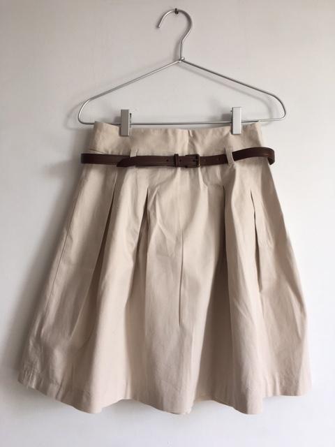 Spódnice Spódnica z podwyższonym stanem z paskiem