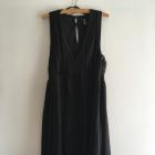 Czarna plisowana sukienka H&M