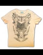 XXL boho koszulka z wilkami...
