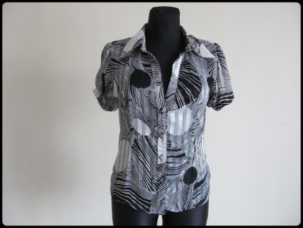 Koszule Wzorzysta czarno biała koszula damska 40 L Pretty Lolita