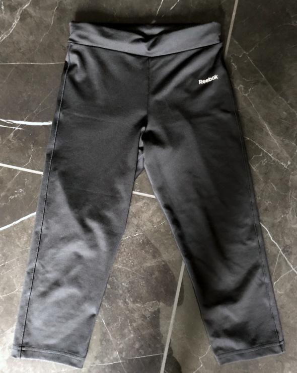Spodenki REEBOK spodnie dresowe sportowe czarne 3 4 rozm XS 34 stan BDB
