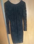 Czarna sukienka koronkowa 34