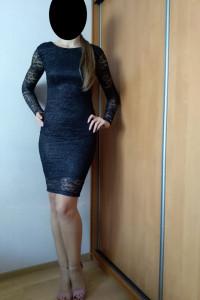 Czarna sukienka koronkowa 34...