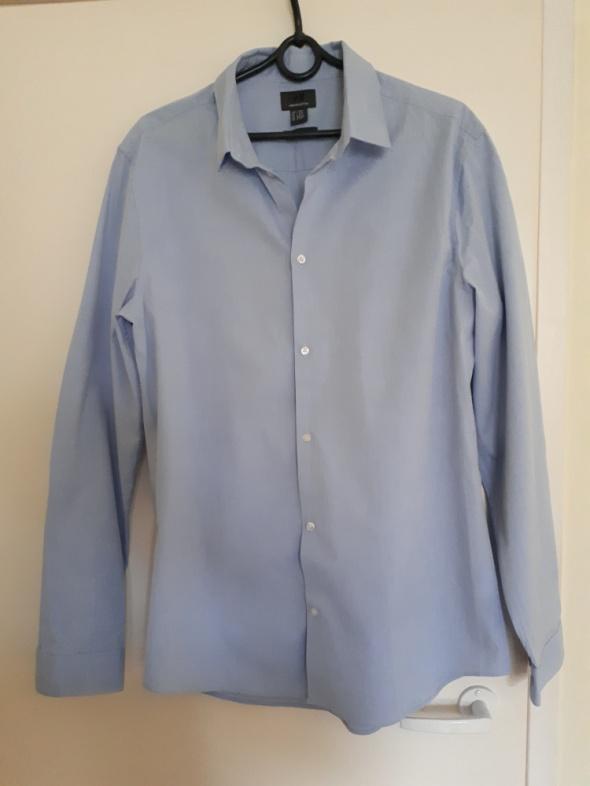 Niebieska koszula męska H&M...