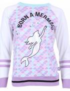 Bluzka mermaid syrena Primark Limited XS pastelowa holo brokat...