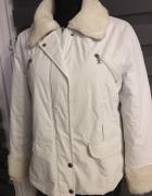 Chanel kurtka biała ocieplana S na M