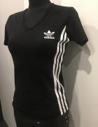Adidas czarna bluzka S na M...