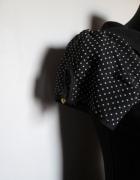 MOHITO śliczna czarna sukienka przeźroczysta wstawka w białe kr...