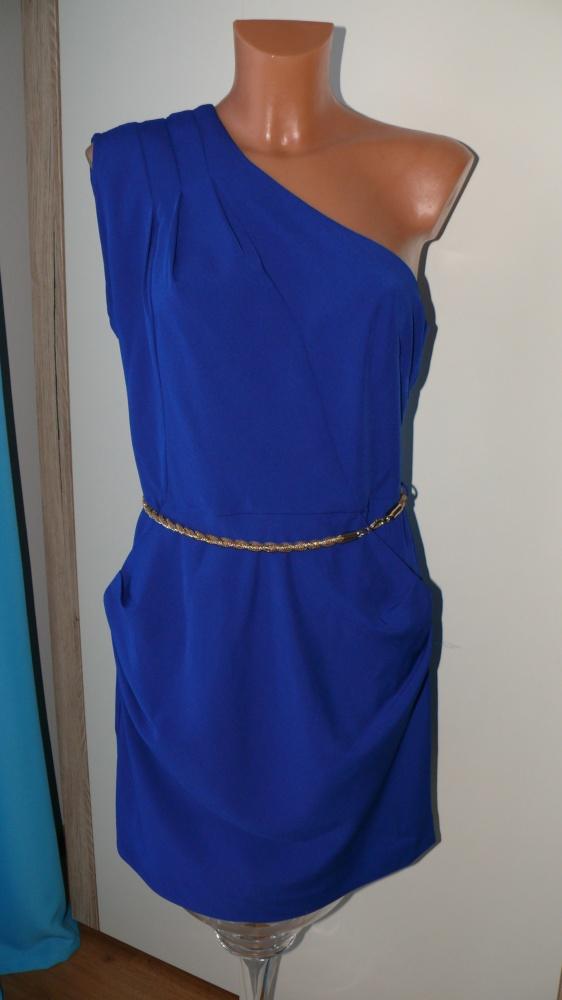 Suknie i sukienki chabrowa sukienka warehouse 3840