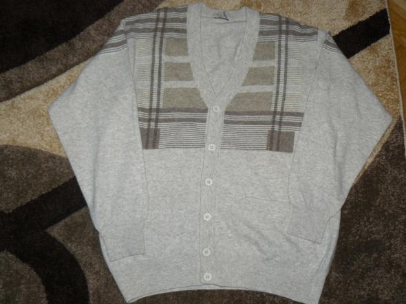 Zapinany sweter męski XL jak now