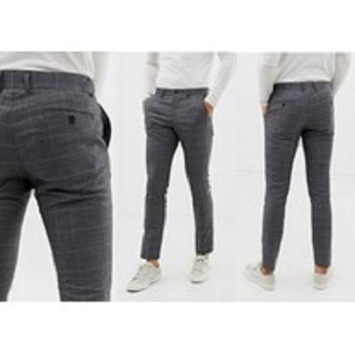 Spodnie Spodnie w kratkę męskie marki LINDBERGH