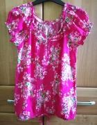 romantyczna różowa bluzka z krótkim rękawem