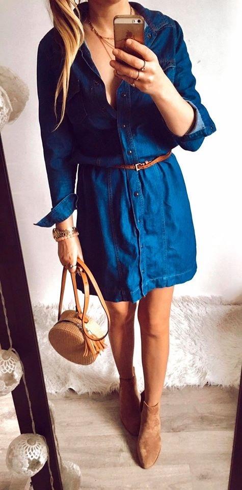 Sukienka Damska jeansowa L