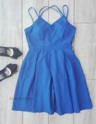 shein sukienka kobaltowa sylwester niebieska M 38 hit