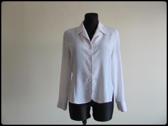 Klasyczna biała koszula damska 40 L stan bdb