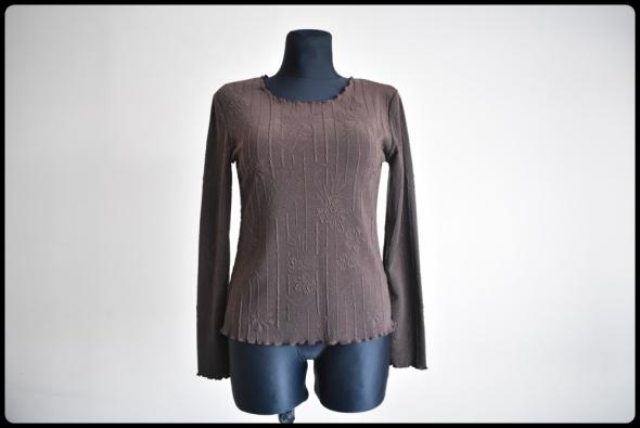 Bluzka damska czekoladowy brąz rozmiar 38 M drobne tłoczenia