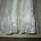 Perłowa koronkowa sukienka floral kwiaty rozmiar S