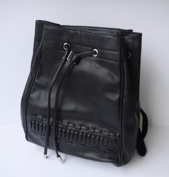 Plecak Czarny Worek Mint&Berry Mieści A4 Elegancki