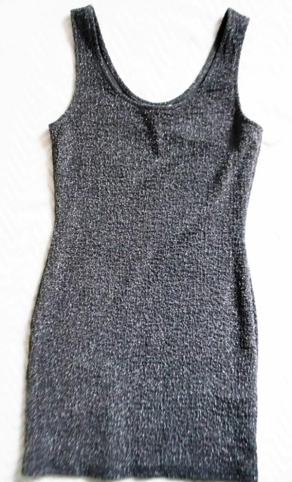 Srebrna sukienka S M