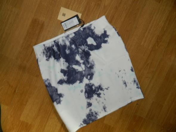 ICHI krótka spódnica w plamy roz L...