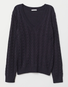 Sweter H&M z dekoltem w serek...