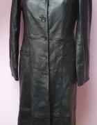 Czarny płaszcz skórzany Goldstein Copenhgen 34...