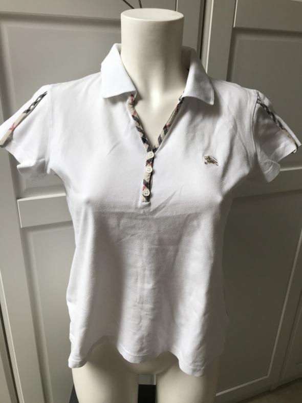 Koszulka polo Burberry biała