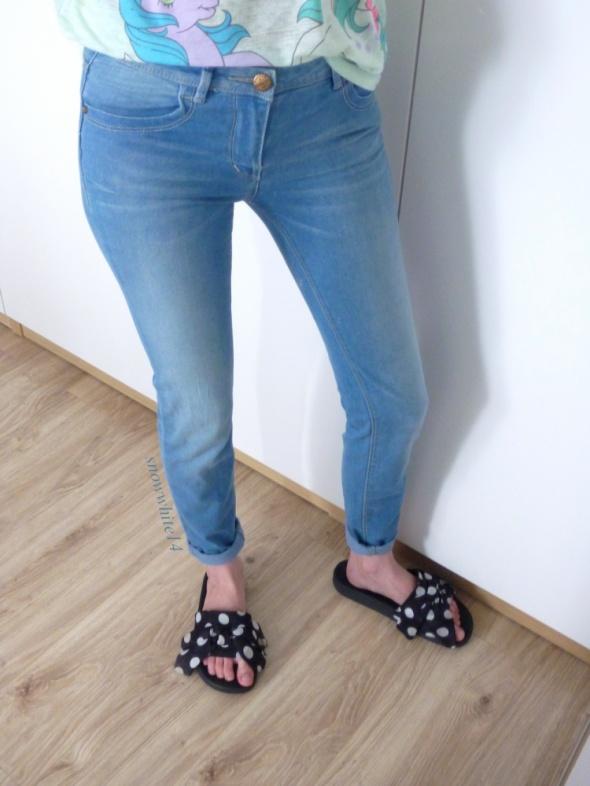 Rurki jasny jeans pull&bear 36 większe 34