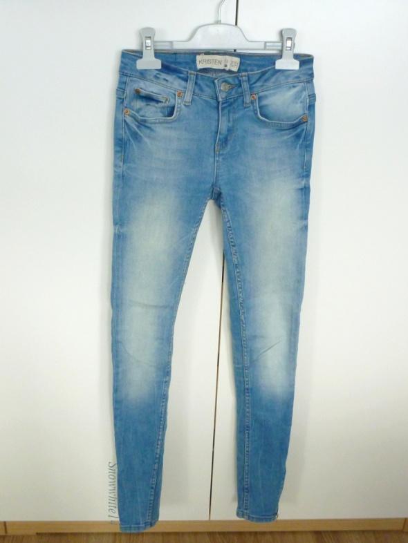 Rurki jasny jeans XXS zipy gina tricot r 32