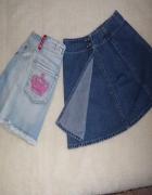 Spódniczki jeans na 156 cm...