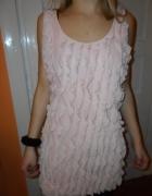 Sukienka top pudrowy róż M L 20zł