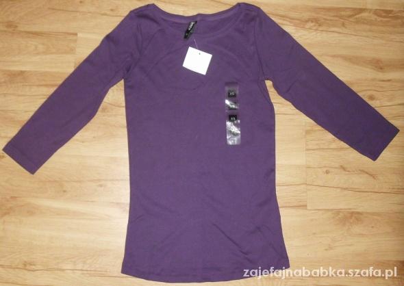 Nowa fioletowa bluzka rękaw 3 4...