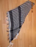 chustka afganka biało czarna gruba...