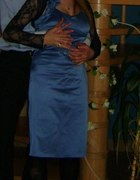 Sukienka niebieska wesele