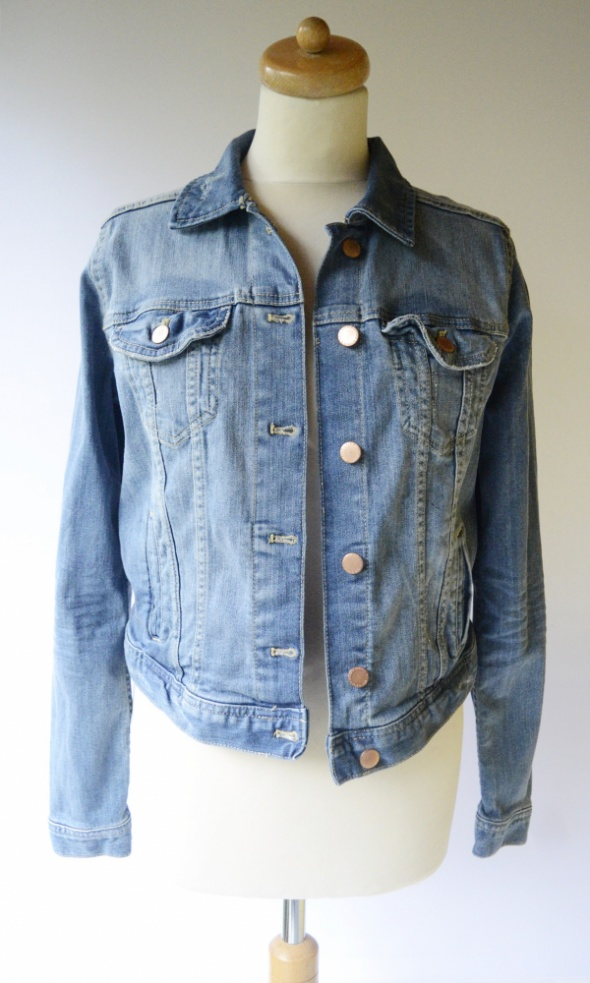 Kurtka Katanka Jeans Przetarcia H&M XL 42 H&M Divided NOWA...