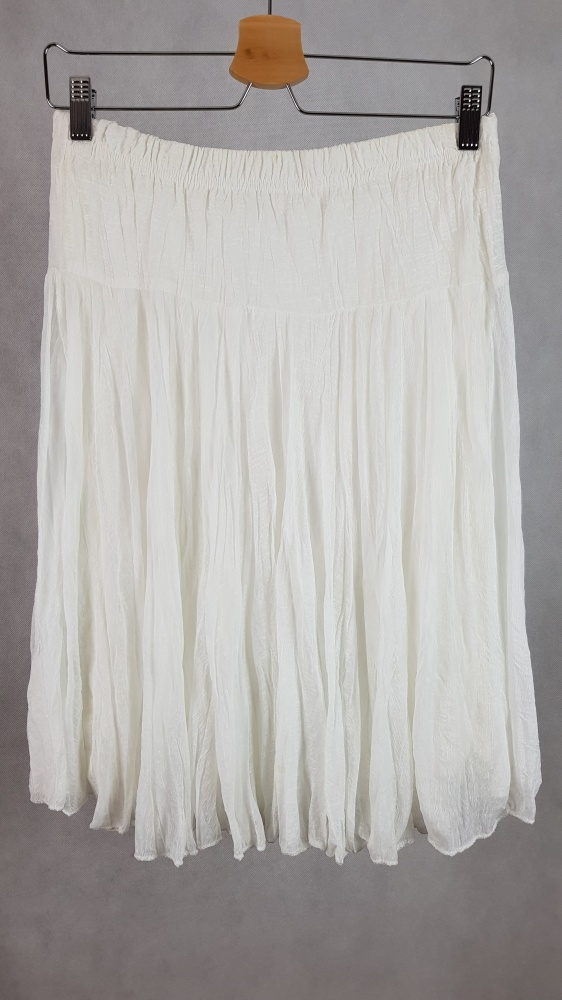 Biała zwiewna spódnica letnia uniwersalna...