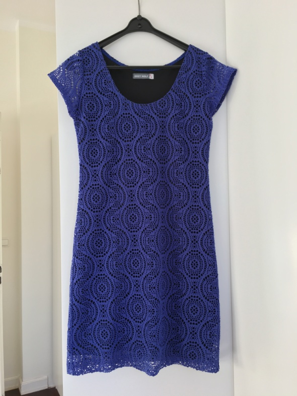 Modrakowa koronkowa sukienka mini Grey Wolf rozm 40...
