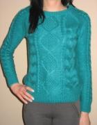 Miętowy ciepły sweterek H&M XS 34...