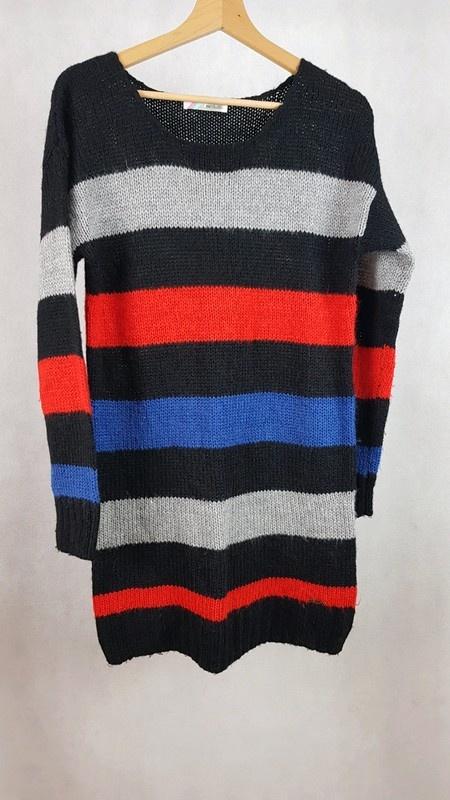 Długi ciepły sweter cropp m...