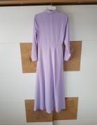 Fioletowa długa sukienka Asos...
