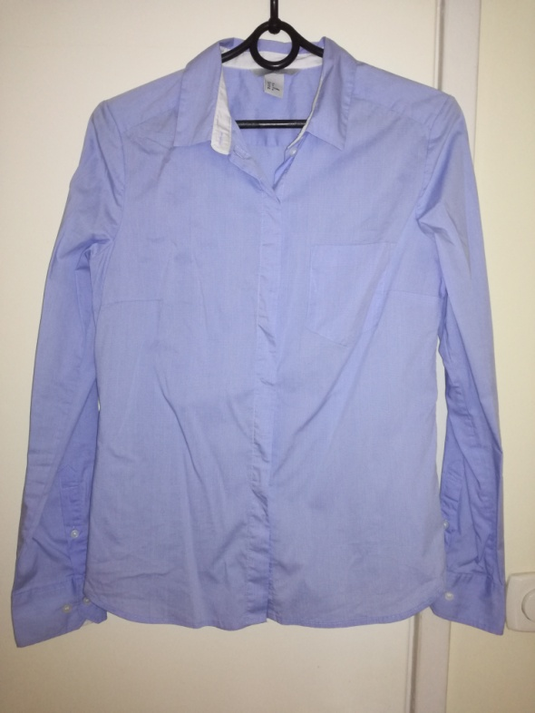 Błękitna koszula damska H&M...