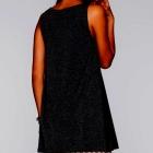 Kremowo czarna sukienka z koronką