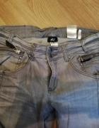 Szare jeansy rybaczki...