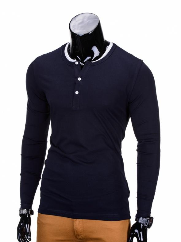 Koszulki i t-shirty Koszulka tshirt granat guziczki