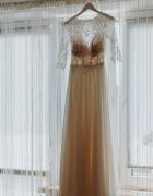 suknia ślubna zafira zephyr afrodyta 34 XS 36 S ecru kość słoni...